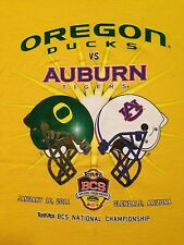 VINTAGE 2011 OREGON vs AUBURN BCS NATIONAL CHAMPIONSHIP GAME T SHIRT XXL