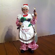 Clothtique Possible Dreams CANDY CANE CUTS Mrs. Claus Beautician Figure  No Box