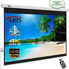 """84"""" Electric Motorised HD Projector Screen 16:9 Native Screen With Remote"""