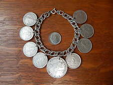 Vintage Sweetheart Philippines Coin Sterling Silver Charm Bracelet
