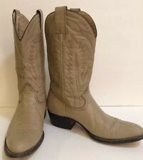 Men Montana Cowboy Boots Taupe Leather 9