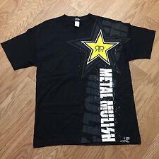 New Men's Metal Mulisha Rockstar Energy Drink Black Promotional T-shirt Size Med