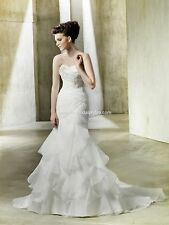 BNWT ENZOANI MODECA NALA W/JACKET WEDDING GOWN DRESS 08 IN WHITE *RETAIL $1550*