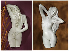 Set of 2: Sweet Submission & Seduction Nude Female Stone Finish Wall Sculptures