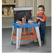 Kids Tools Bench Workshop Play Set Toddler Pretend Work Child Workbench 35Pieces