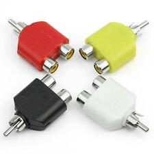 RCA Y Splitter AV Audio Video Plug Converter 1-Male to 2-Female Cable Adapter RF
