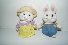 Max and Ruby Plush Dolls Toys Bunnies Rabbit Siblings GUC!