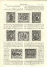 1894 Beautiful Postage Stamps Royal Military College Bangkok But No Army