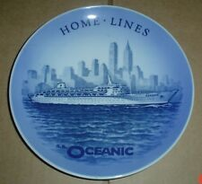 Royal Copenhagen Collectors Plate HOME LINES SS OCEANIC