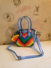 Damai Ladies Woman's Bag Hand Bag Summer Holiday Wedding Blue/ Multi Coloured