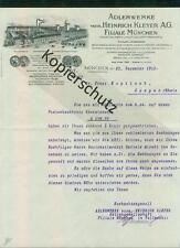 Alter Litho-Brief Adlerwerke vorm. Heinrich Kleyer A.G. München Frankfurt 1912