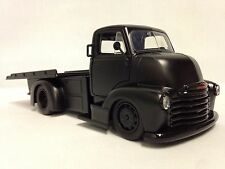 1952 Chevy COE Flatbed Truck, 1:24 Diecast, Collectible, Jada Toys, PRIMER BLACK