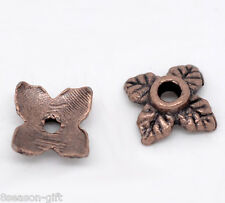 350 Copper Tone Flower Bead Caps Findings 8x8mm
