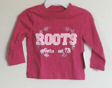 New ROOTS Size 3-6 (Small) Pink Long Sleeve Shirt