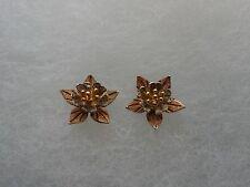 10K gold Flower Earrings