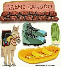EK SUCCESS JOLEE'S BOUTIQUE 3-D STICKERS RIVER RAFTING AMERICA USA GRAND CANYON