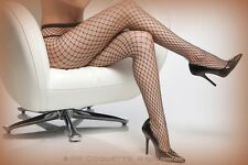 Black Sexy Diamond Net Fishnet Pantyhose Tights by Coquette 8 - 14 (1761)