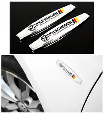 Car Fender Skirts Silvery Metal Alloy Decoration Decals Sticker Emblem For VW