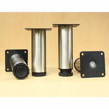4 pcs furniture cabinet metal legs adjustable stainless steel kitchen feet round