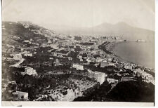 c.1880's PHOTO  ITALY NAPOLI PANORAMIC VIEW SOMMER