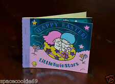 RARE VINTAGE SANRIO 1976-1985 LITTLE TWIN STARS EASTER MINI SEAL STICKER BOOK