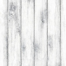 Whitewash Wood Panel Self Adhesive Wallpaper Vinyl Wallcovering for Living Room