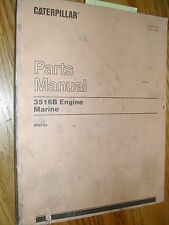 CAT Caterpillar 3516B MARINE ENGINE PARTS MANUAL BOOK CATALOG 8CN1 &UP V16 GUIDE