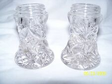 Vtg Lead Crystal Salt & Pepper  no lids