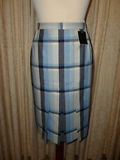 "LADIES   MARKS AND SPENCER PURE WOOL  TWEED/ TARTAN SKIRT SIZE UK 12-- 28"" waist"