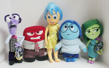 Disney Store INSIDE OUT Plush Toy Doll Set Disgust Joy Sadness Anger Fear NWT