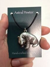 SILVER PENDANT ASTRAL PEWTER PANDA NECKLACE HAND CRAFTED UK FINISH NEW