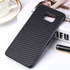 Carbon Fiber Pu Leather Back Cover Protect Hard Case For Samsung Galaxy Note 5