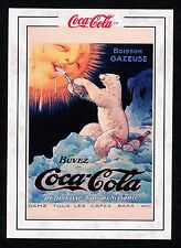 FREE COCA COLA  RARE POLAR BEAR TOP LOAD CASE CARD - 1920 FRENCH AD - NEW 1994