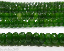 Natural 5x8mm Faceted Emerald Abacus Loose Beads Gemstone 15""