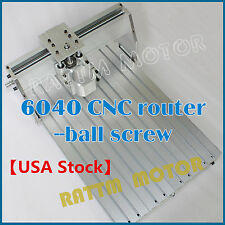 New 6040 CNC Router Milling Engraving Machine Desktop Ballscrew Frame+80mm Clamp