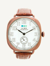 La Mer Collections Watch Vintage Oversize Brown Copper Croco