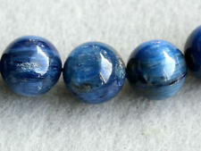 14mm .Natural Blue Kyanite Smooth Double Polish Round Ball Gemstone Bead (1pc)