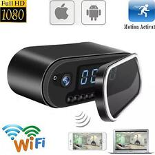 Mini WIFI 1080P Night Vision HD Spy Hidden Camera Clock P2P Motion Detection SP