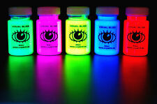 UV Artist Set 5x U.V. Neon Glow Blacklight Ultraviolet Fluorescent U-V Art Paint