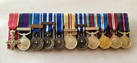 Court Mounted Miniature Medals, MBE, GSM, NATO, Iraq, Afghanistan, Jubilee, ACSM