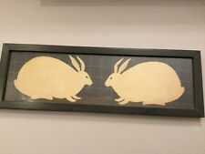Rabbits - Warren Kimble Art Framed Picture - Country Folk Art Americana