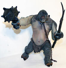 "The Lord Of The Rings 10"" Cave Troll Electronic Sounds Figure 2001 Working"