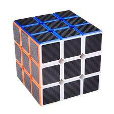 Magic ABS Carbon Fiber Speed Cube Rubik's Puzzle Twist Kids Gift Black 3x3x3 NEW