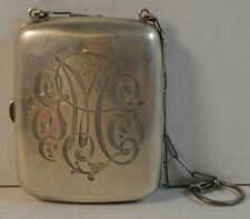 Antique James E. Blake Co. Sterling Silver Compact Chatelaine