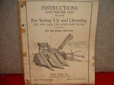193? Instruction and Repair Parts List for New Idea Two Row Corn Picker
