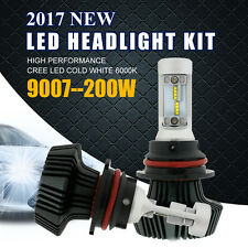 HB5 9007 200W 20000LM CREE LED Headlight Bulbs Light Kit Hi/Low Beam White 6000K