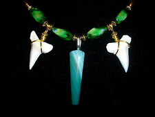 EYE CATCHING MAKO SHARK TOOTH SURFER BEACH WEAR NECKLACE JUST WENT ON SALE NOW