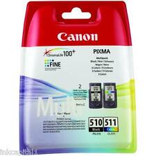 Canon PG510 CL511 & ORIGINAL OEM CARTUCCE A GETTO D'INCHIOSTRO