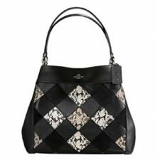 Coach Lexi Shoulder Bag Phoebe F 57509 Snake Patchwork Black Multi Leather NWT