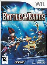 BATTLE OF THE BANDS for Nintendo Wii - with box & manual